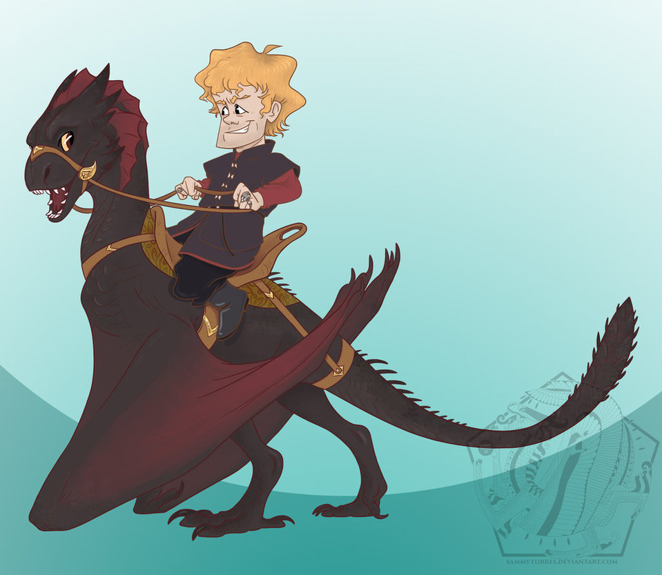 I think all of the Tyrion dragon scenes should be animated. Just like this.