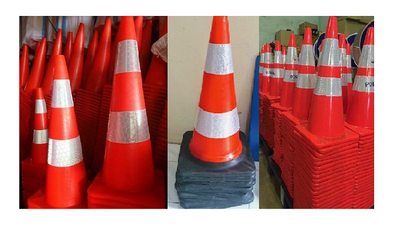 jual traffic cone, jual kerucut lalu lintas, jual kerucut 70 cm, jual cone, rambu marka