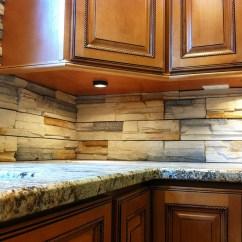 Stacked Stone Kitchen Backsplash Track Lighting For Island Remodel In Manassas Va By Ramcom And Bath