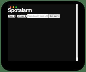 Captura de pantalla del primer prototipo de Alarmify