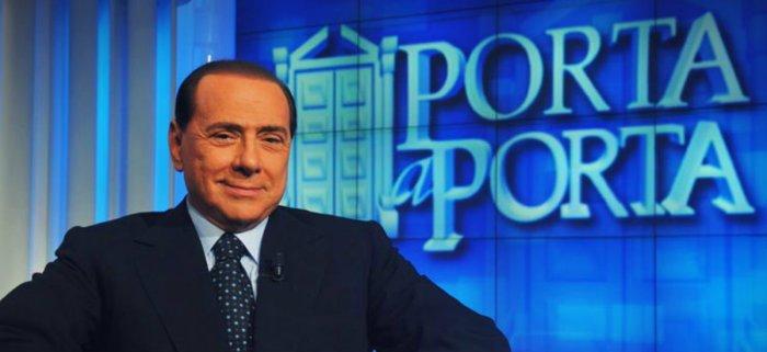 Tele-regime: Silvio Berlusconi nello studio di Porta a Porta