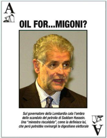 Roberto Formigoni nell'immagine di copertina del Piccolo Giornale del 12 febbraio 2005