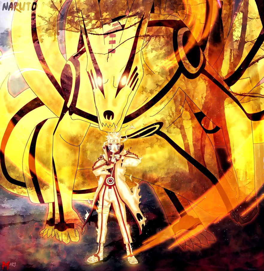 naruto and kurama wallpaper