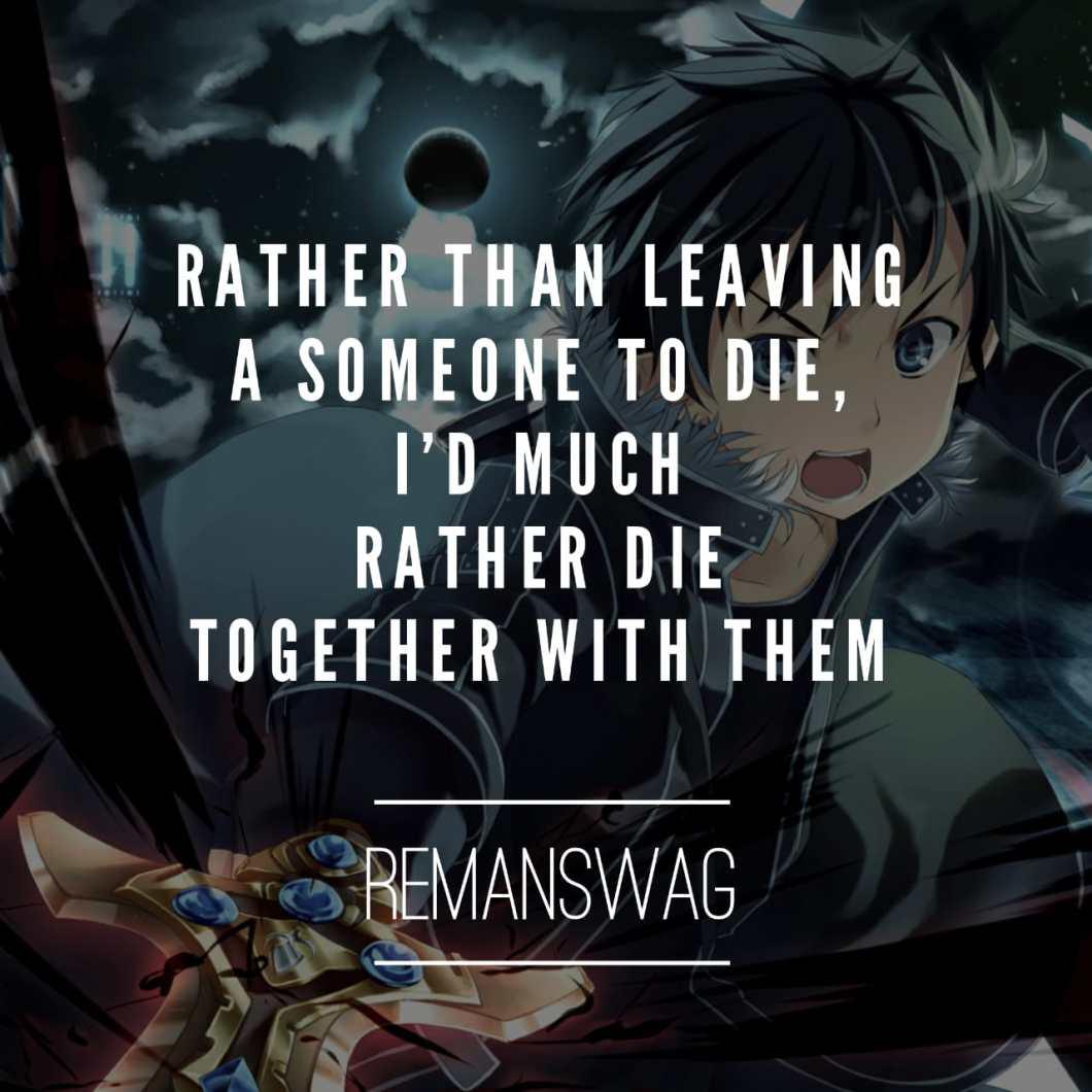 sword art online quotes
