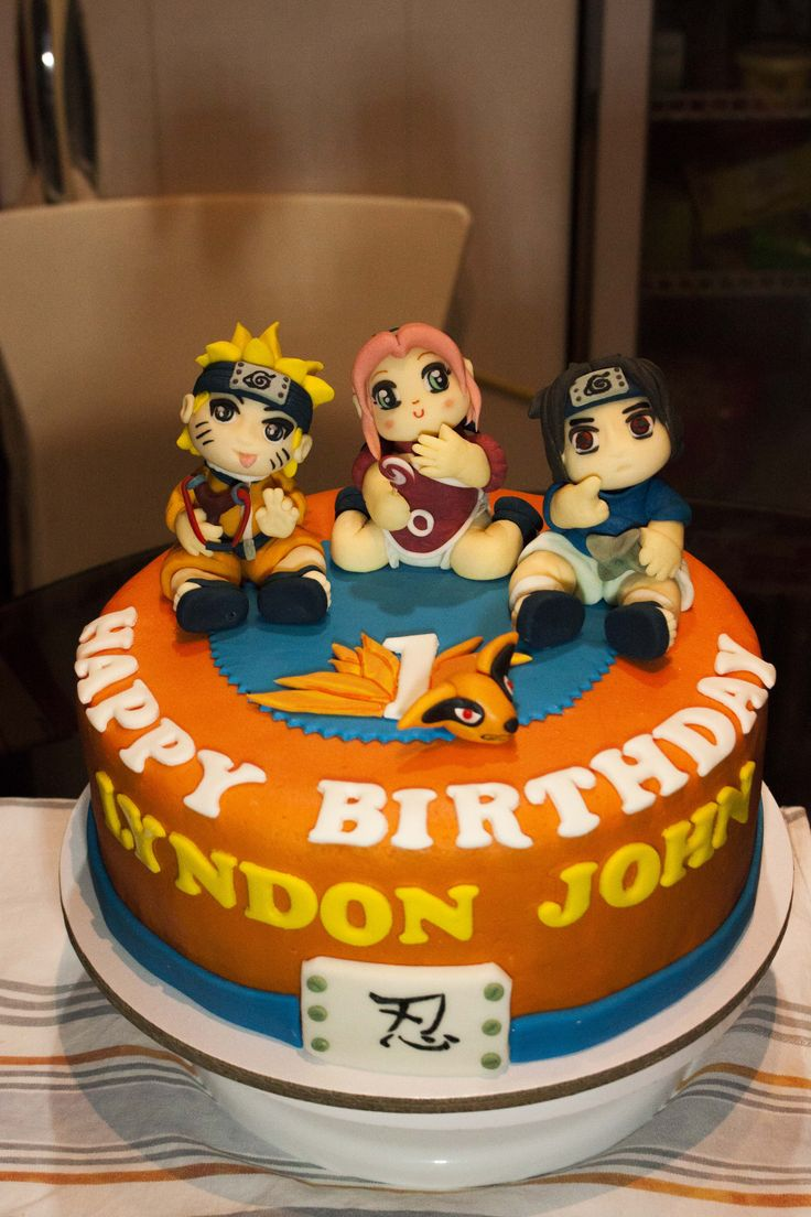 naruto shippuden cakes