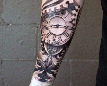 clock time tattoo