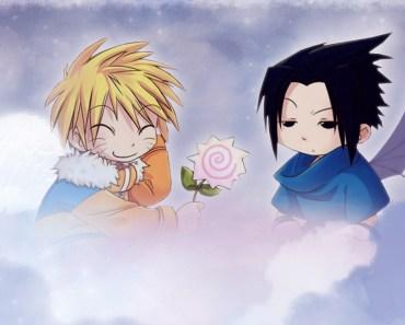 Naruto and sasuke cute wallpaper