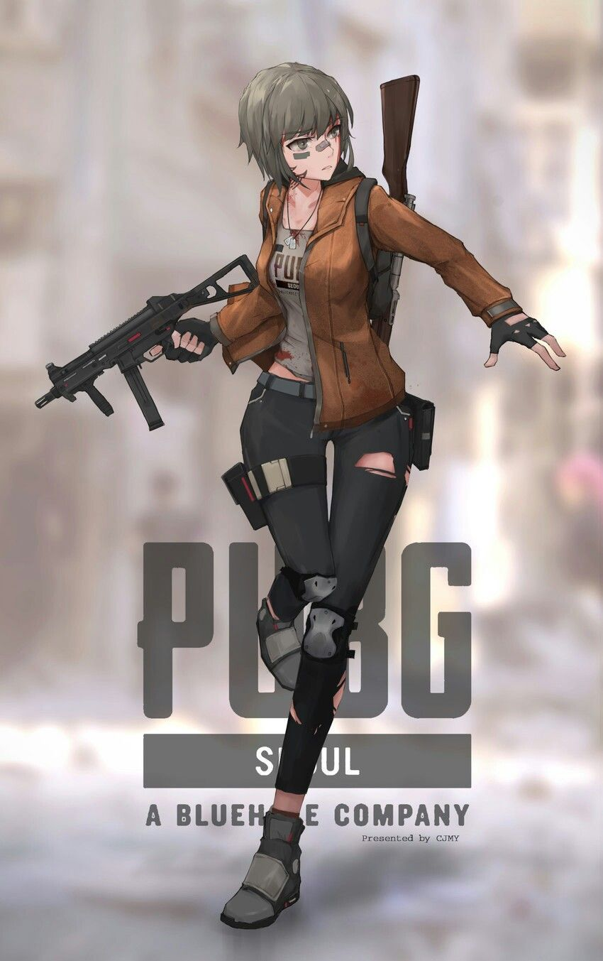 Anime Girl PUBG Wallpapers