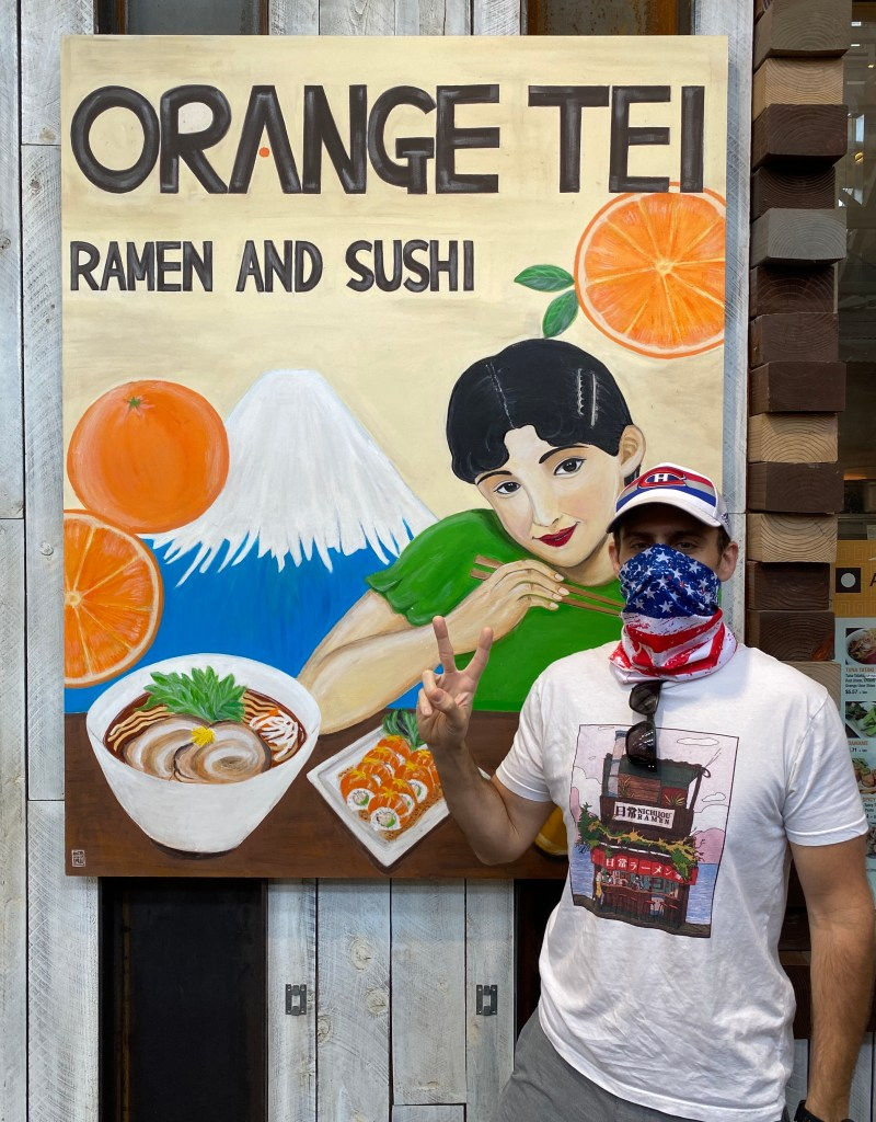 Ramen Zac standing out front