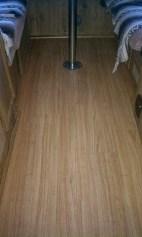 New laminate floor in camper