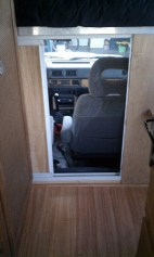 3/4-inch plywood fit nicely in the frame to make a very sturdy door.