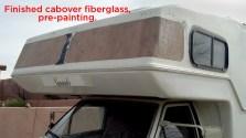Finished fiberglass on both window voids