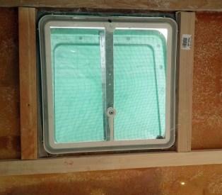Properly framed roof vent.
