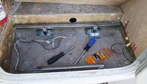 Made the entry step into a tool storage compartment