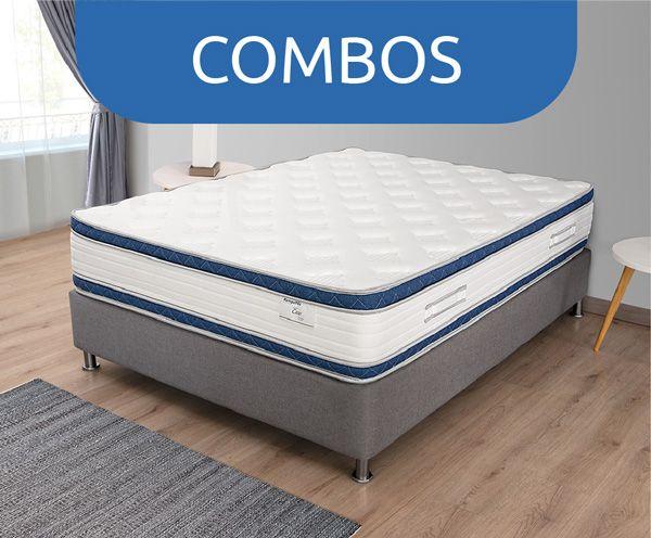 Promoción de Combos Colchón + Base Cama + Almohada Ramguiflex Al Mejor Precio