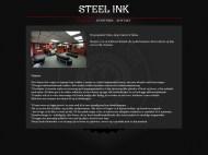 Steel ink mockup - Hvem er vi
