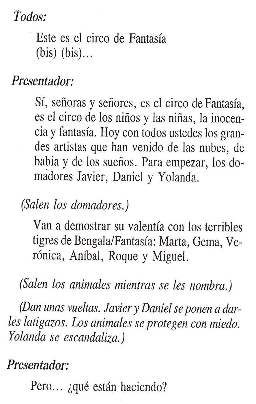 Guin del Circo de fantasa  Ramiro Pinto
