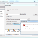 IIS7-Invalid Application Path Error