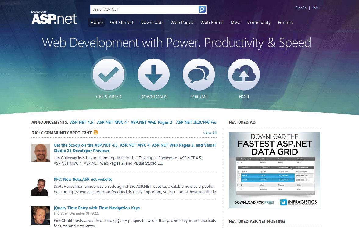 new aspnet website design
