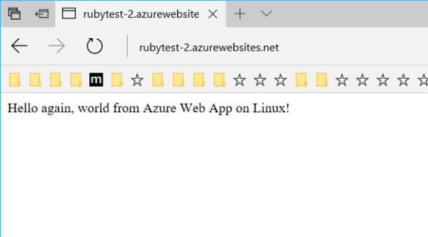 ruby running on azure