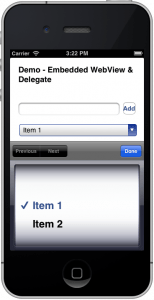 Framework for interacting with embedded WebView in iOS application (1/2)