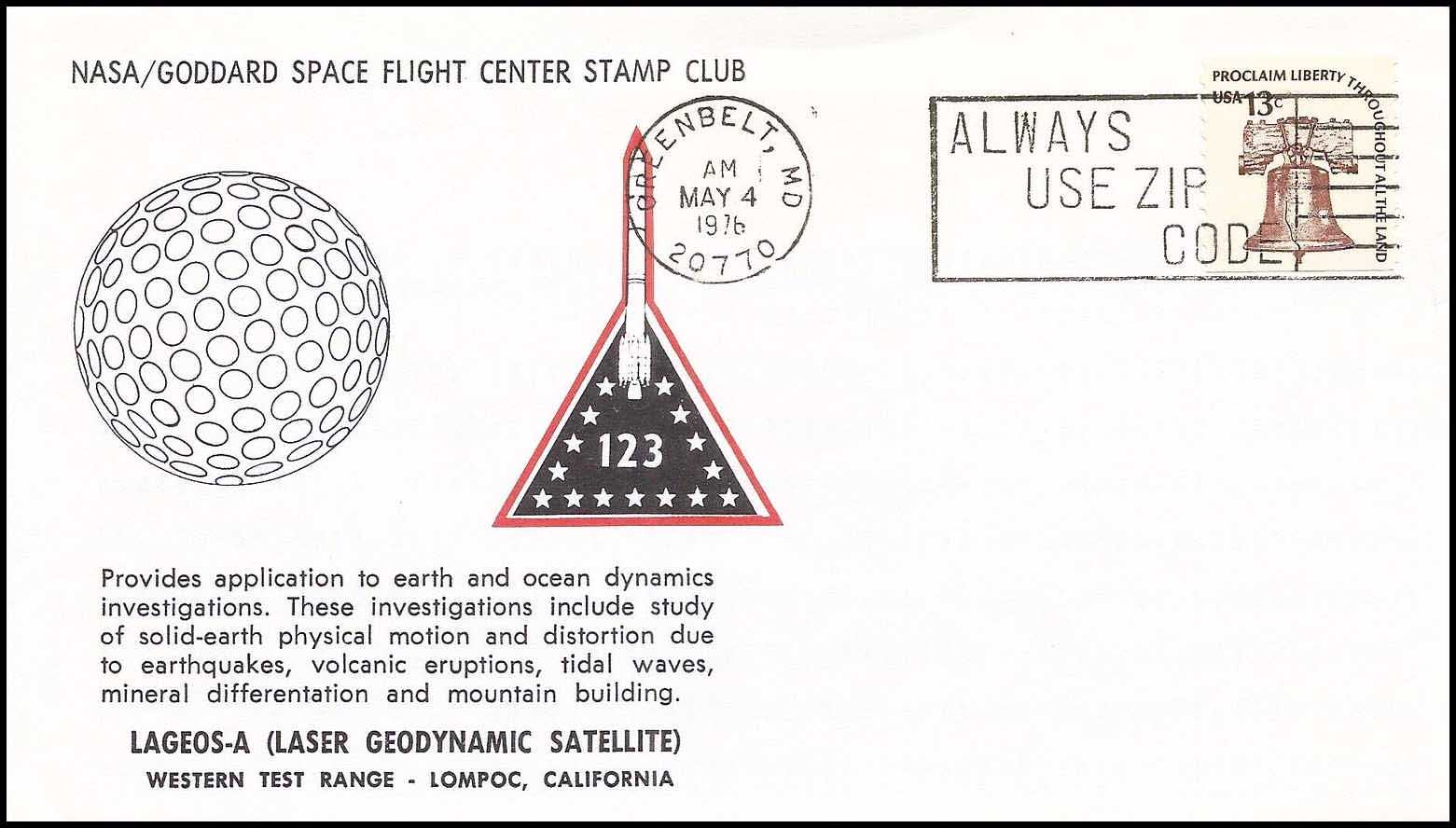 hight resolution of  nasa gsfc stamp club card