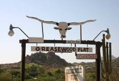 Greasewood Flat - Entry SIgn