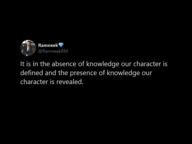The Presence of Knowledge Tweet