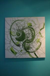 Abstract Green by Ramona Romanu