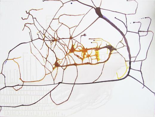 New Modern Abstracts by Ramona Romanu, 60 x 80 cm, Mixed Media