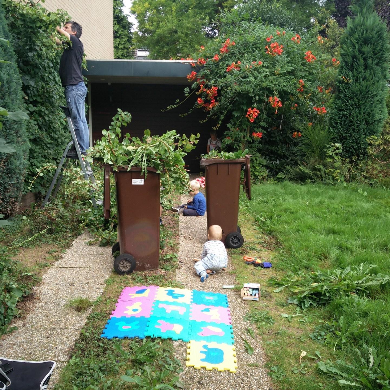 Onze rolverdeling in de tuin