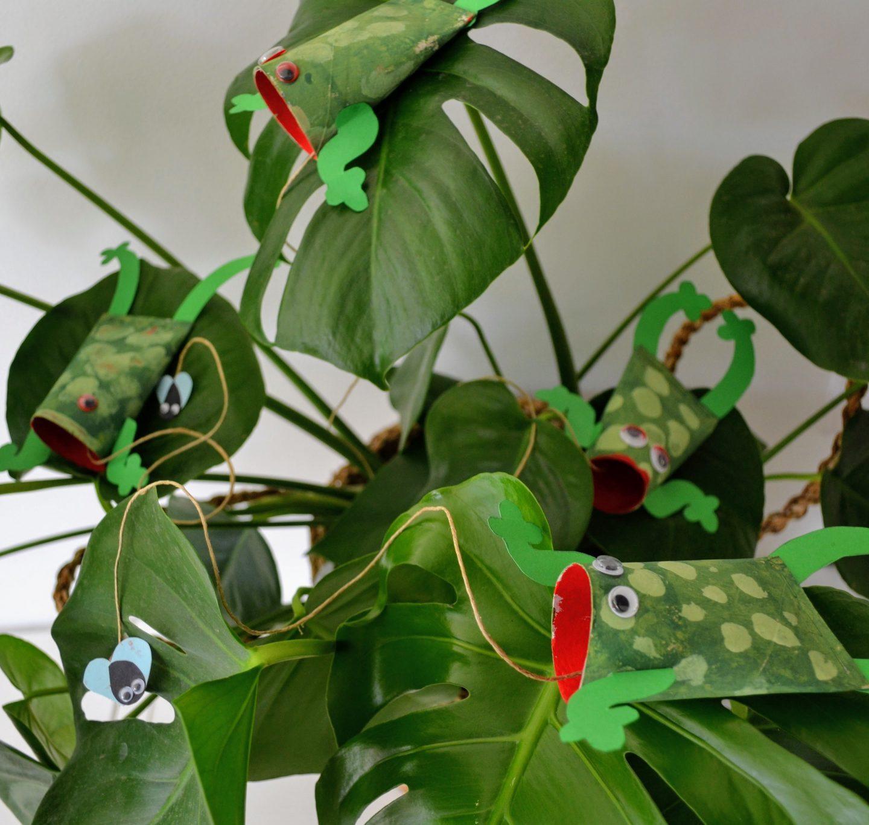 DIY | Vliegenvangende kikkers van WC-rolletjes