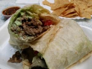Los Amigos Carne Asada Burrito