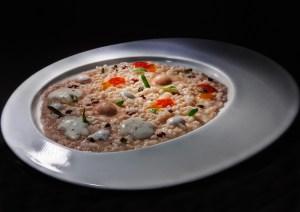 Piatto AMO - Riso ai lieviti Bellaguardia, dolce, amaro, salato e acido- Taste of Christams Verona
