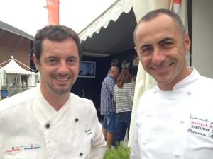 """chef Angelo Troiani di """"Acquolina Hostaria"""" (RM) e lo chef Francesco Apreda di """"Imago"""" (RM) - cooking for art 2105"""
