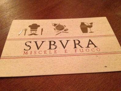Svbvra miscele e fuoco- Roma-via Cavour- rione Monti- ristoranti a Roma