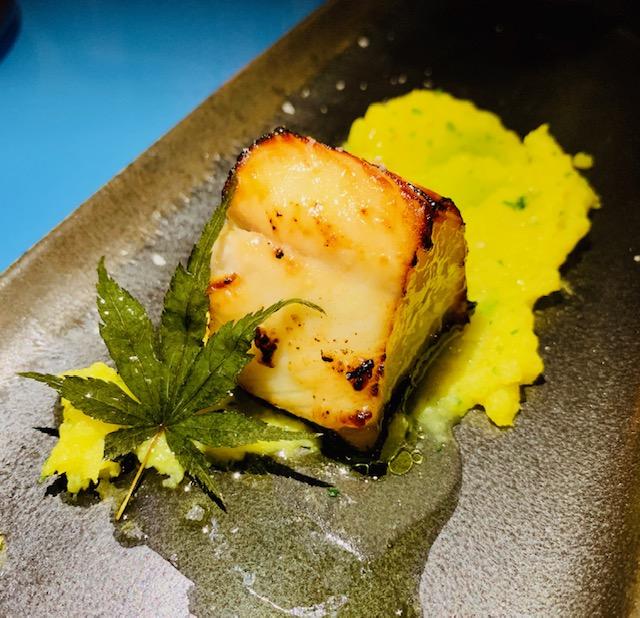 ristorante-amami-fusion-roma-black cod-polenta-limone