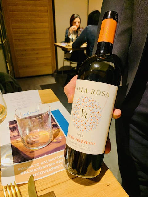 vino Villa Rosa ristorante Almatò Roma