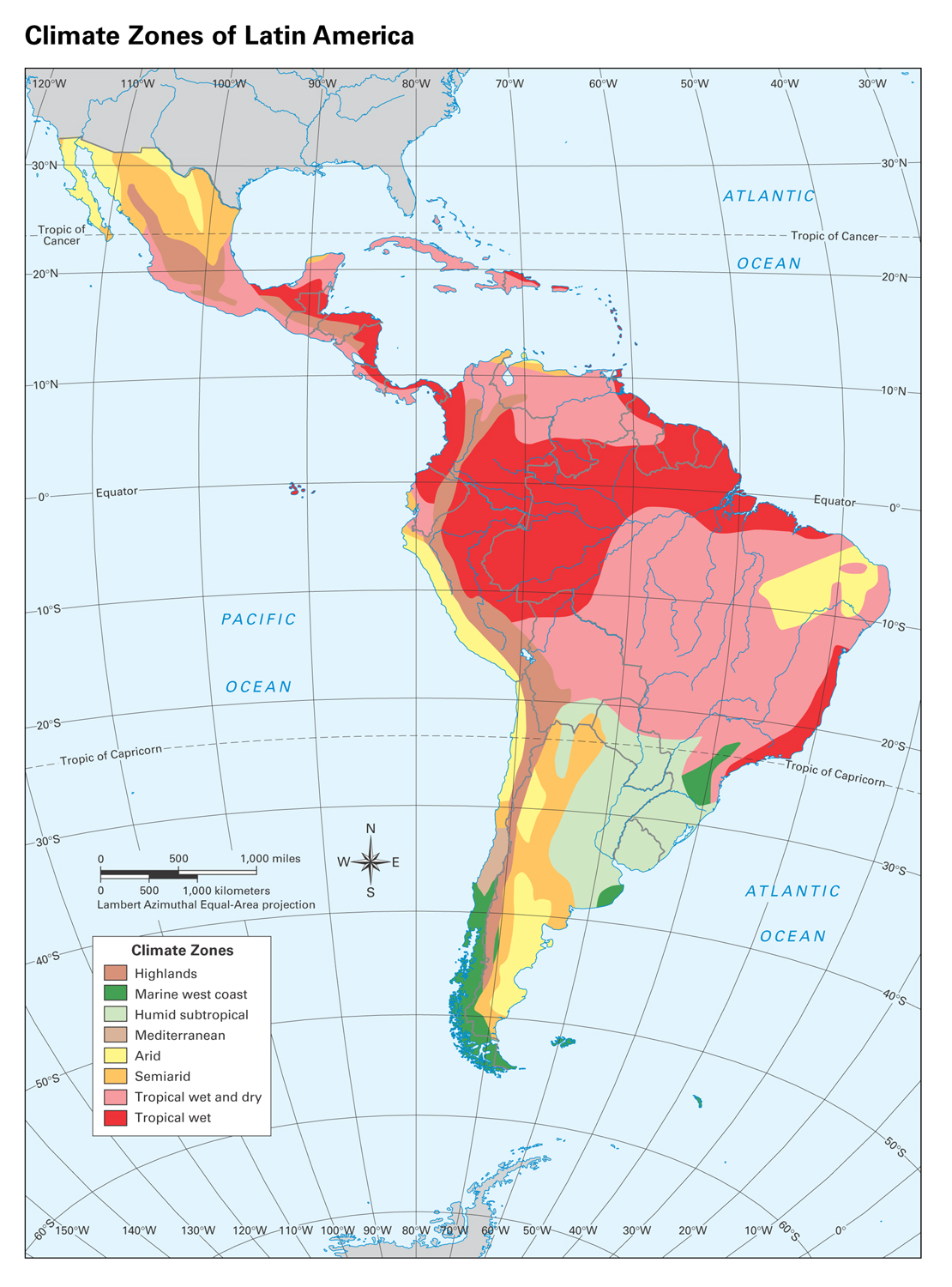 32 South America Climate Map