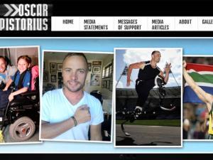 Oscar Pistorius website undergoes PR makeover