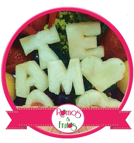 Ramo de Frutas con Letras