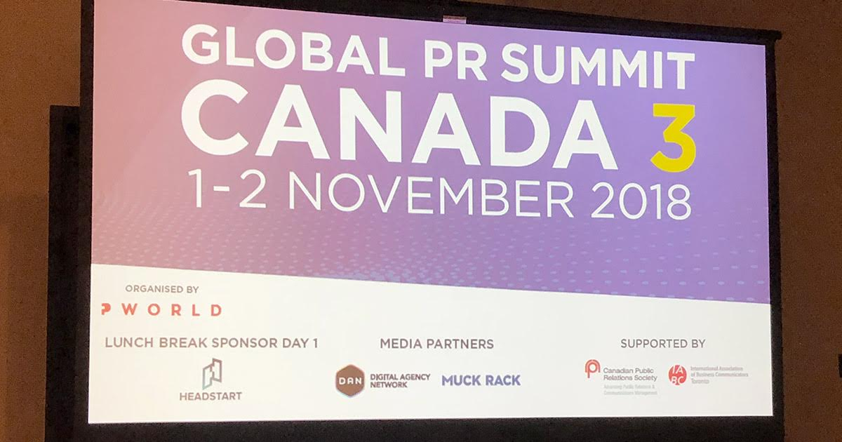 WHAT I LEARNED AT THE GLOBAL PR SUMMIT