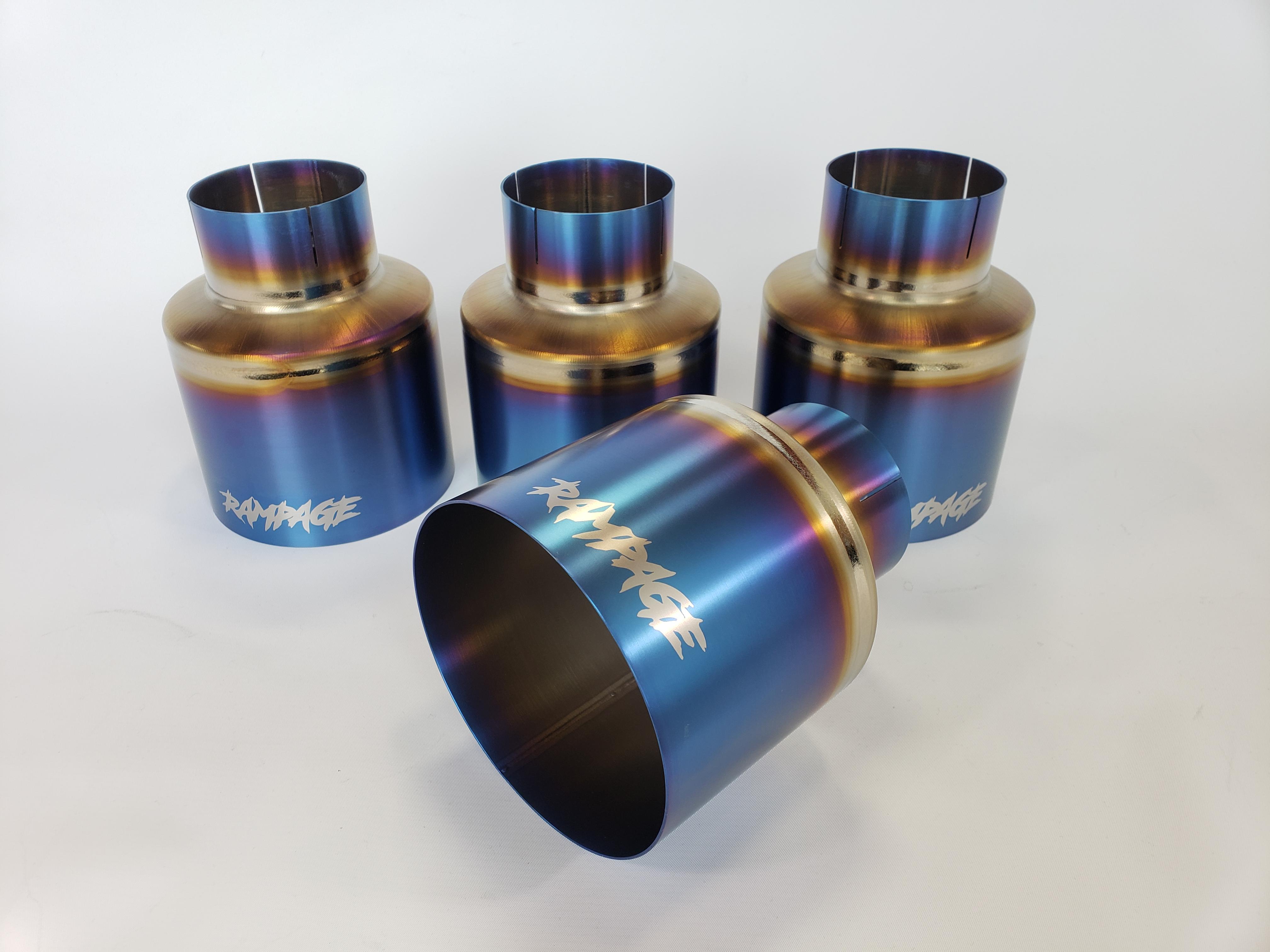 rampage 5 titanium slip on exhaust tips r35 gt r