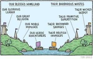 Tribalism cartoon