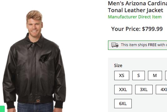 Hideously Overpriced Jacket from nflshop.com