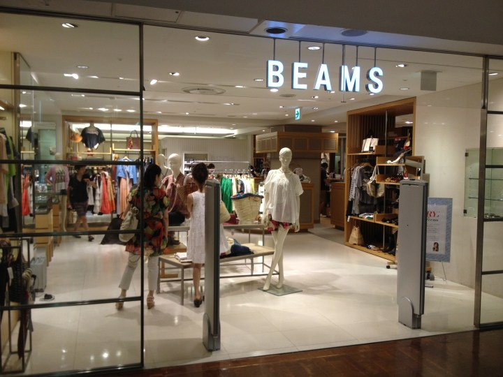 Beams-shop-in-Takashimaya-Tamagawa