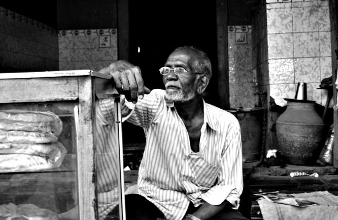 Local Vendor waiting for customers