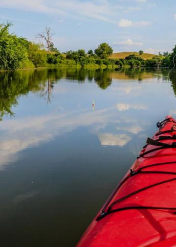 Picture of fishing kayak