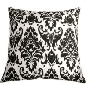 Pillow Perfect Outdoor Black White Polka Dot Toss Pillows Square