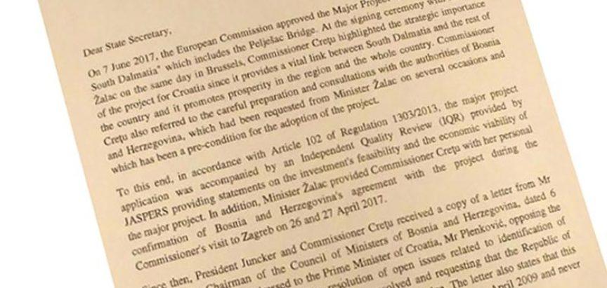Avaz objavio pismo: Hrvatska ipak ne smije graditi Pelješki most?